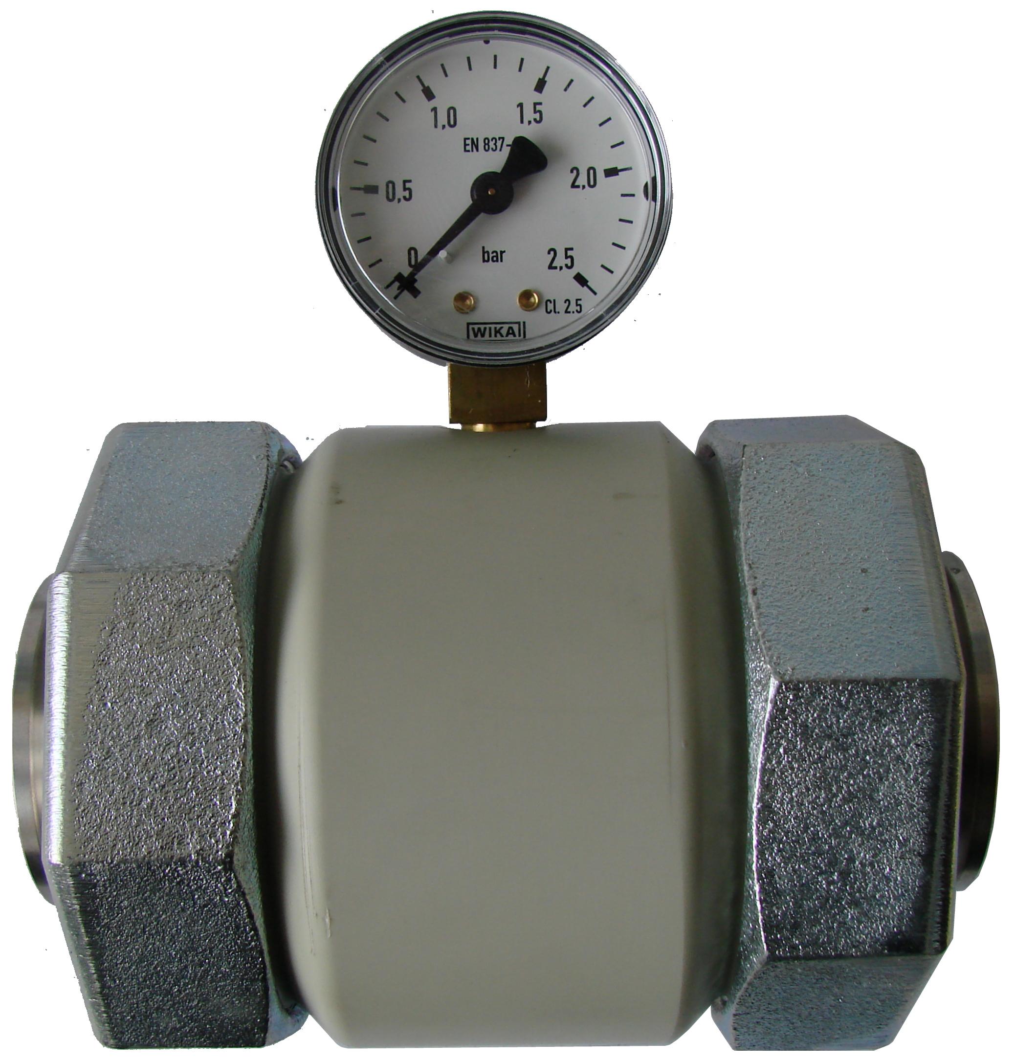 KVT-Druckmittler aus Kunststoff mit Clamp-Anschluss DSC00298