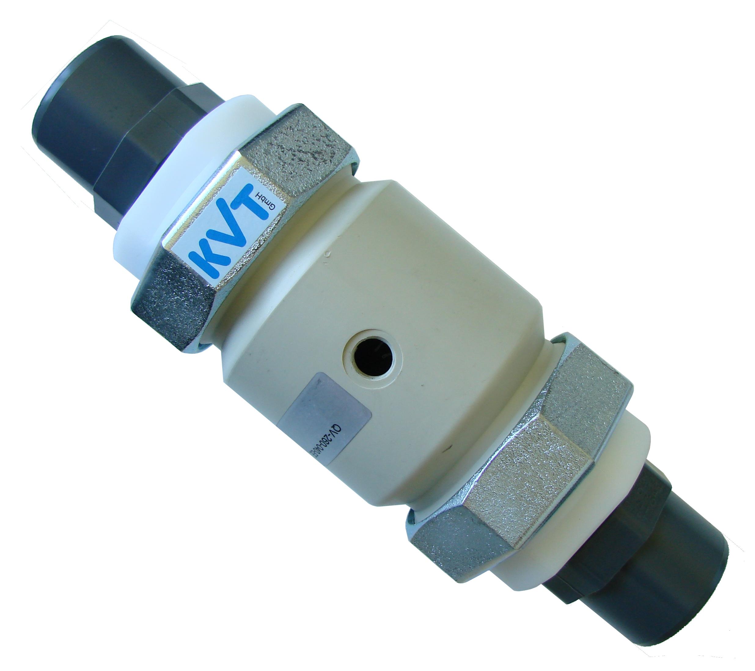KVT Quetschventil mit Rohrenden aus PVC