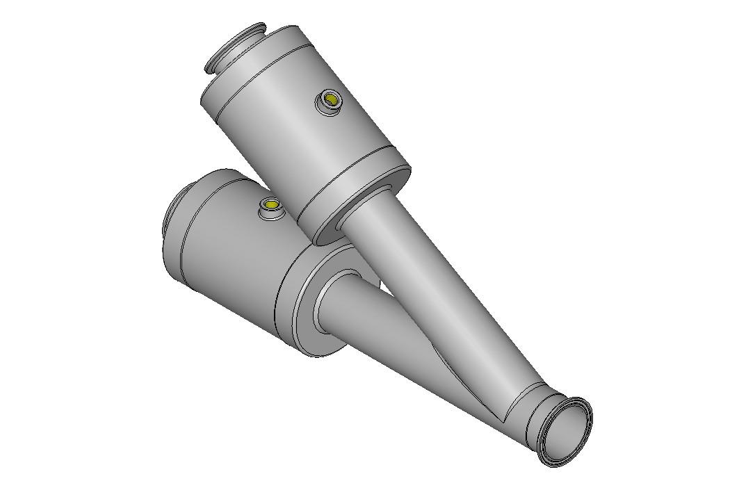 KVT ProjAN615463 Quetschventil-Weiche DN 50 mit Clampanschluss